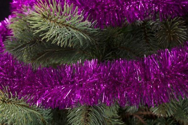 Girlande für den Weihnachtsbaum magenta 50mm x 3m