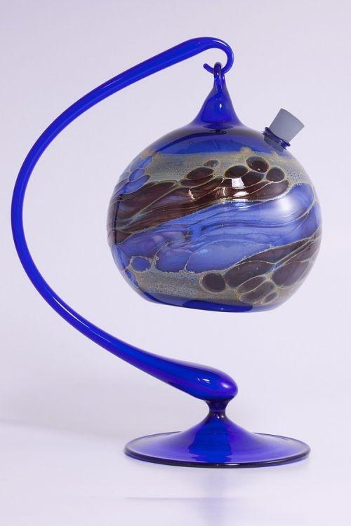 Obstfliegenfalle aus Glas blaues Set