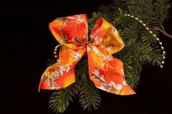 Dekorationsschleife orange braun