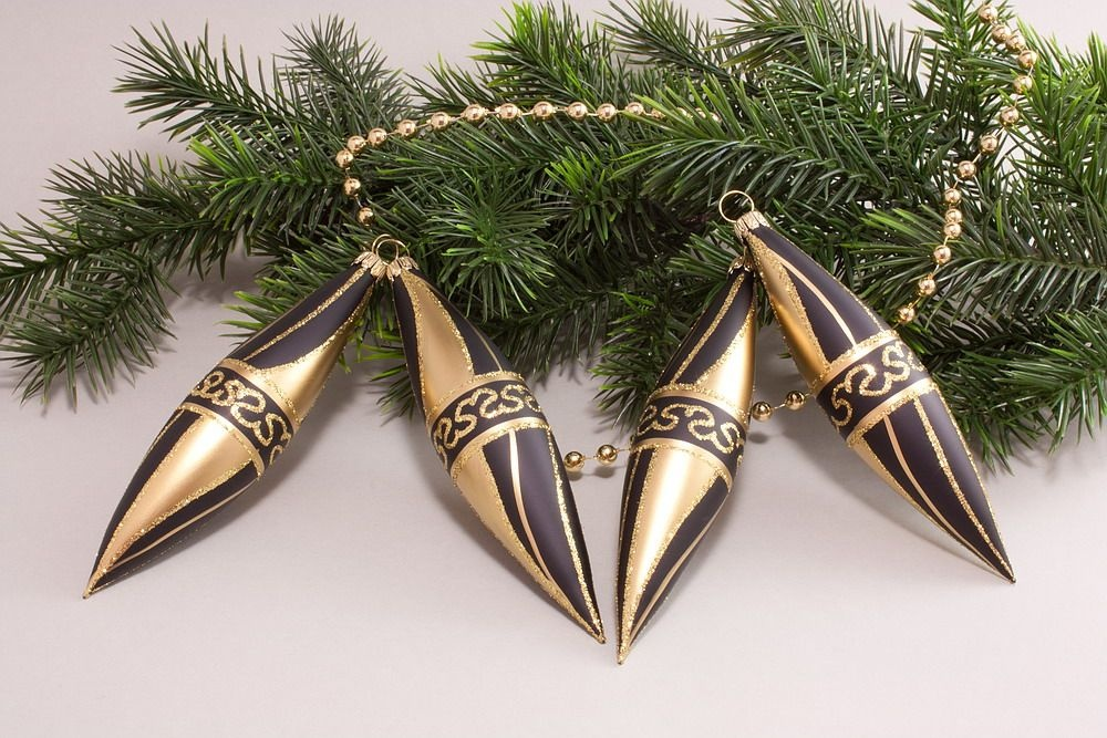 4 Oliven Schwarz Gold