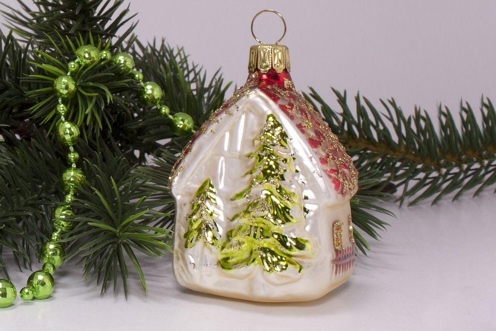 3 h uschen aus glas champagner rot christbaumschmuck und weihnachtskugeln aus glas. Black Bedroom Furniture Sets. Home Design Ideas