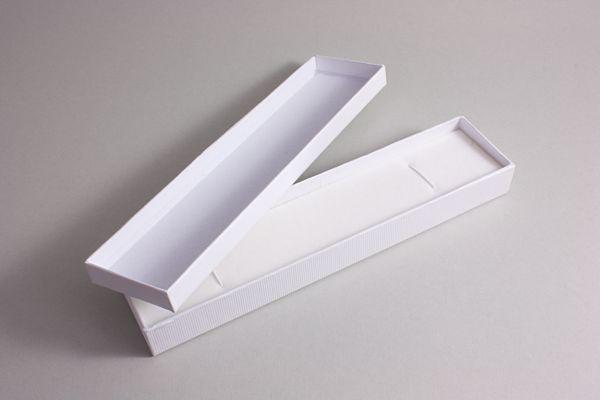 edles Geschenketui / Schmucketui für Glasfederhalter in weiß