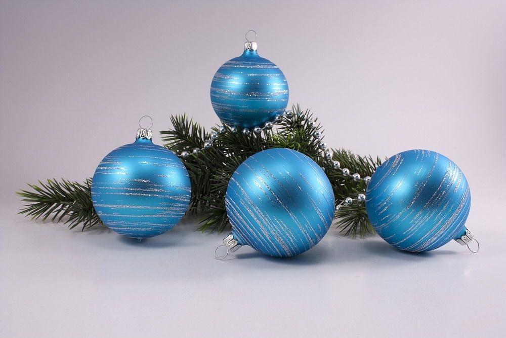 t rkis matt silber geringelt christbaumkugeln christbaumschmuck und weihnachtskugeln aus glas. Black Bedroom Furniture Sets. Home Design Ideas