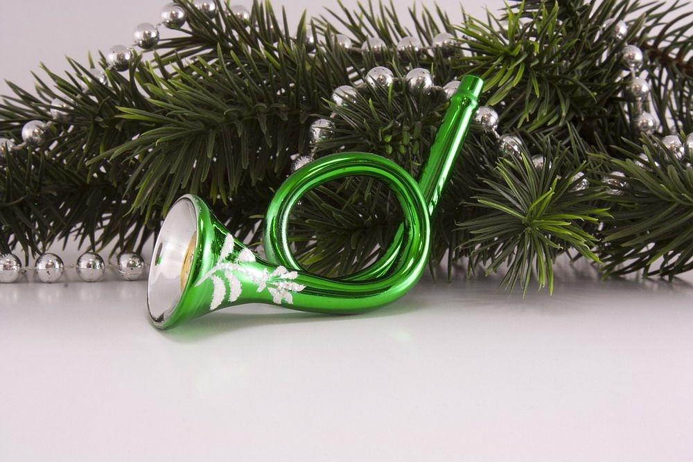 Trompete / Posthorn in grün