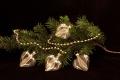 Weihnachtskugeln transparent gold gst